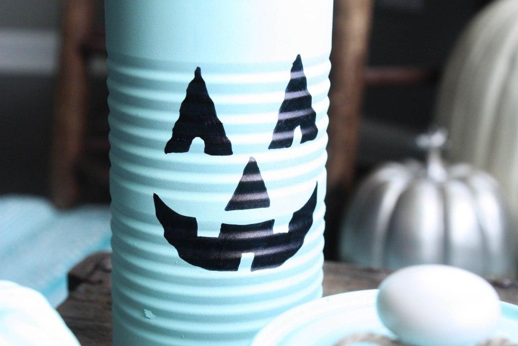 Tin Can Pumpkin Halloween Craft