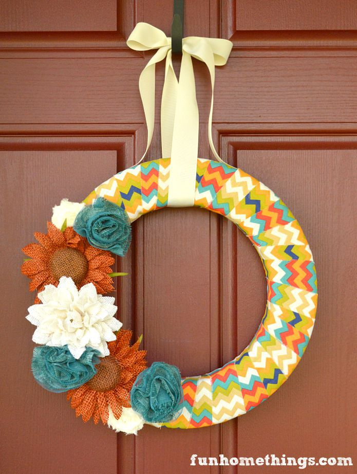 Fabric Wrapped Wreath
