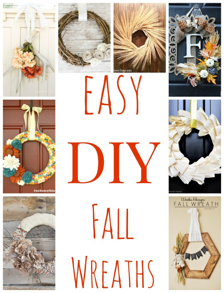 Easy DIY Fall Wreaths that are sure to inspire you in your fall decorating this year! Definitely a must pin!