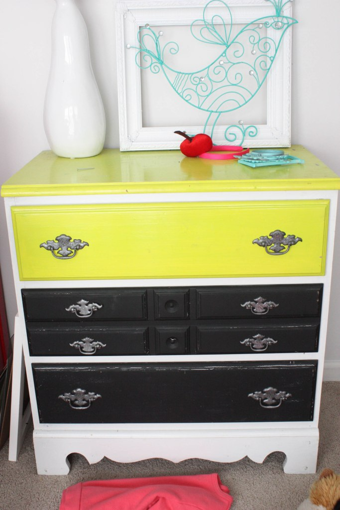 Small Chest Before-Bad Paint Job!