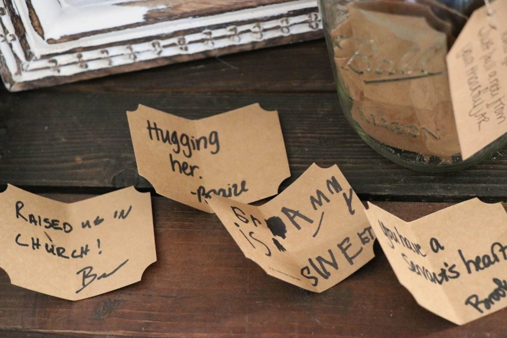 How to make a thankful jar for that special friend or family member!