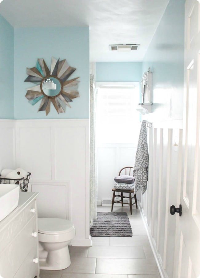 Board and Batten Farmhouse Bathroom Makeover