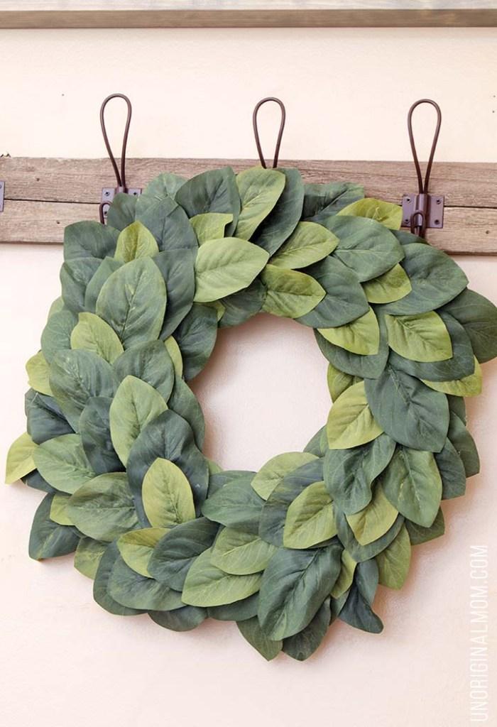 DIY Magnolia Wreath