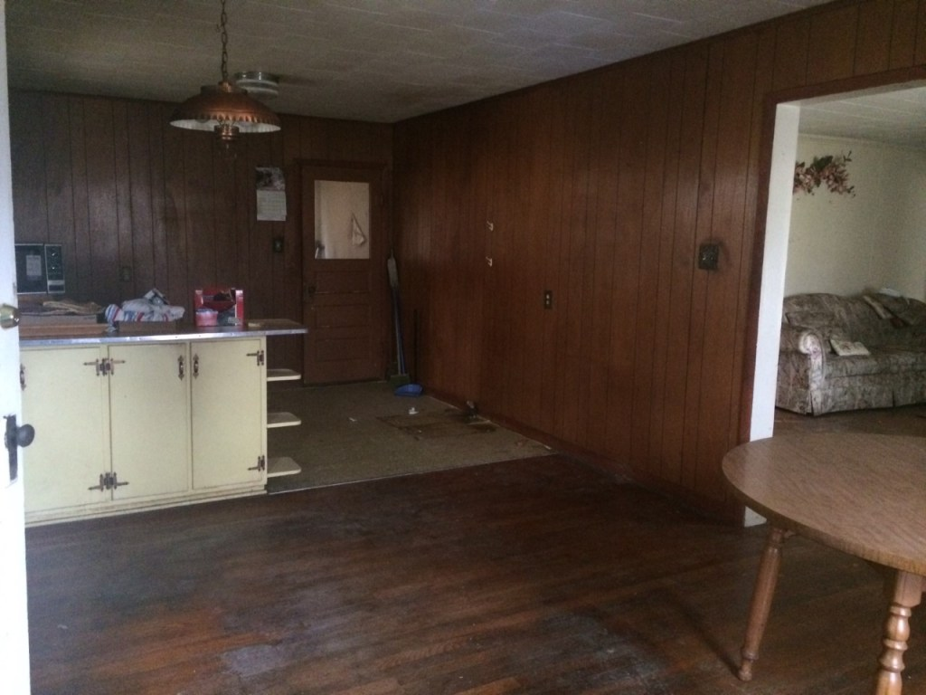fixer upper home- Before picture kitchen