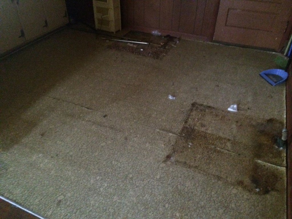 kitchen floor before picture-fixer upper home