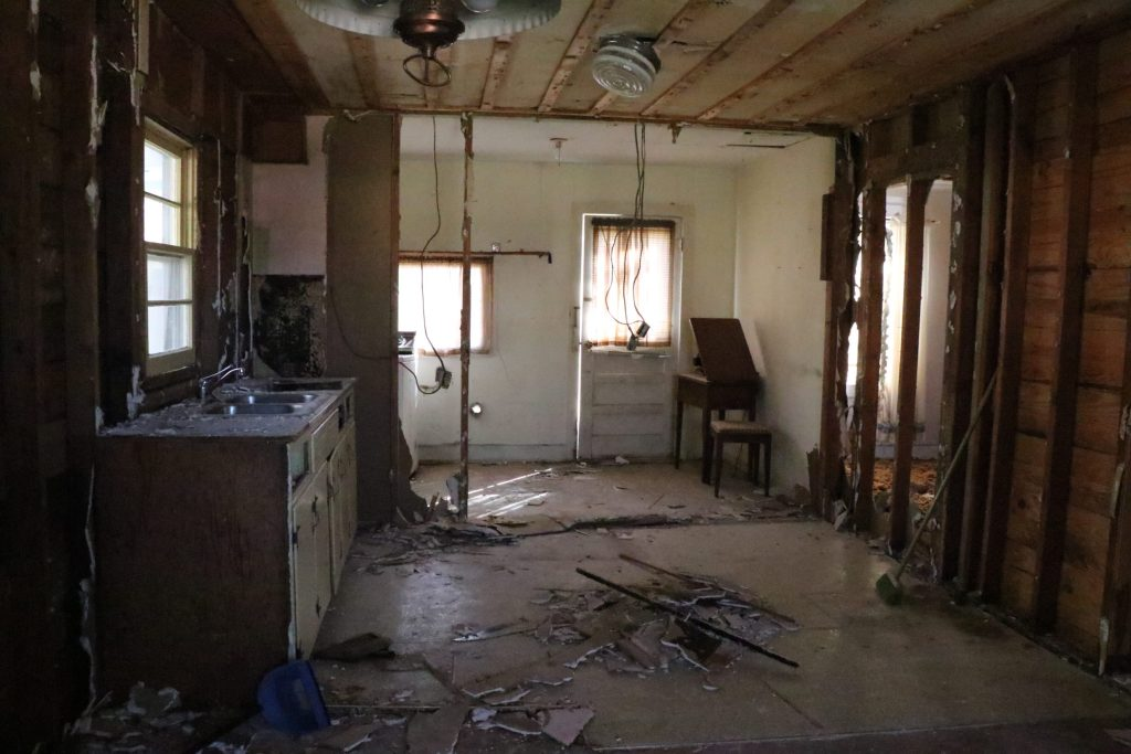 Demo is well underway at the fixer upper home! Seeing a home transformed back into greatness after being let go is such an invigorating process! Come check it out!