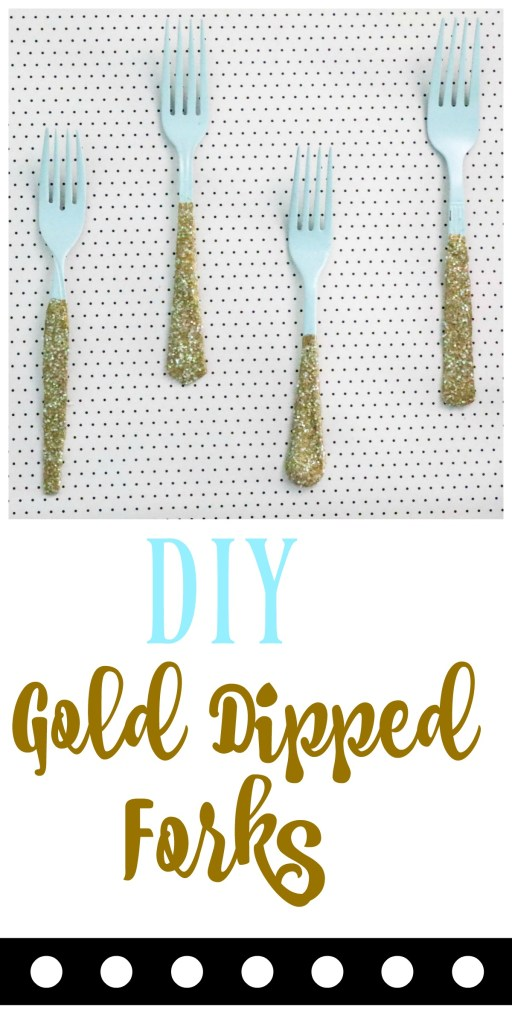 These gold dipped forks are the perfect kitchen art project to bring your kitchen to life! It is a fun, fast , easy and cheap project that can be tailored to any design style! Check out the FULL tutorial!