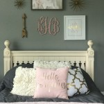 Blush and Gold Bedroom Makeover