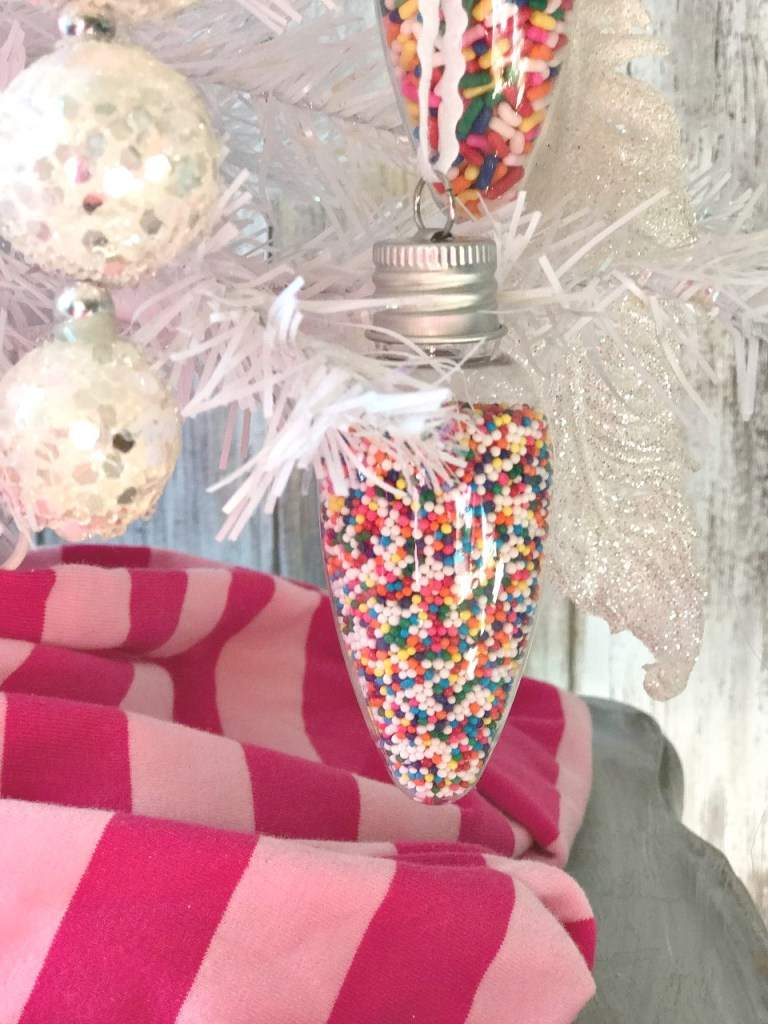 DIY Candle Sprinkle Ornaments!