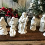 Thrifted Nativity Scene Makeover