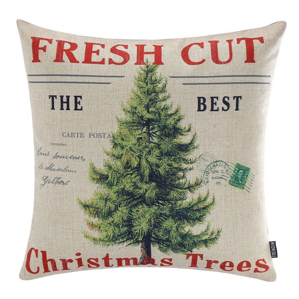 farmhouse christmas pillow covers re