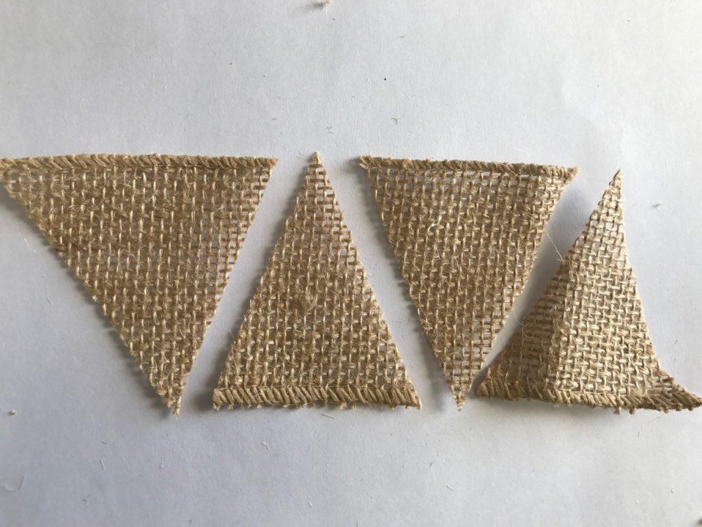Super Easy DIY Mini Burlap Banner