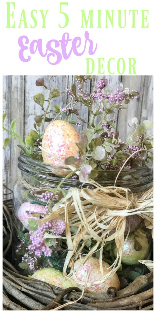 SUPER cute and easy 5 minute table Easter decor for your home!