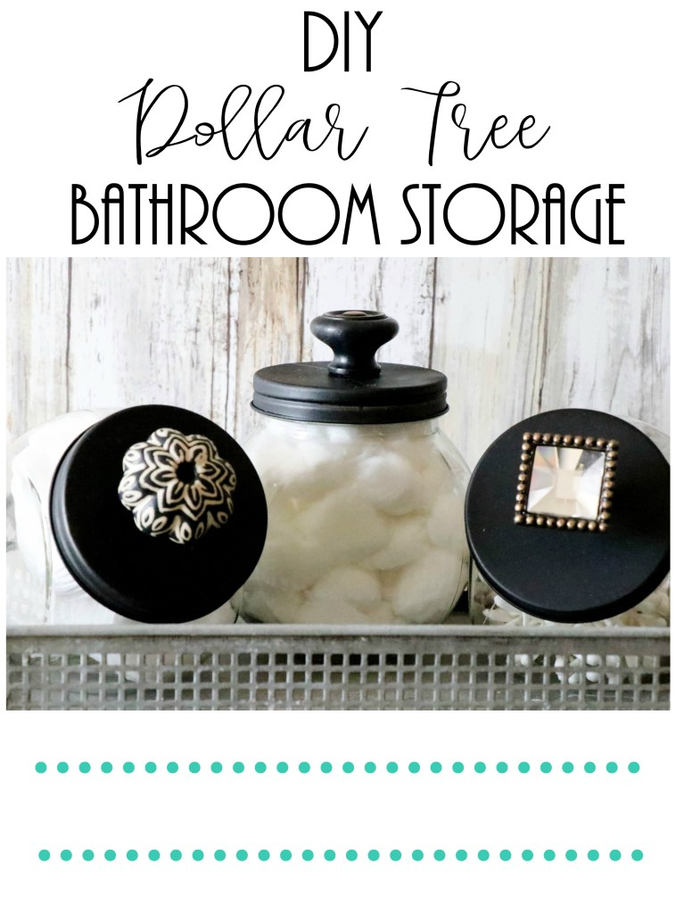 DIY dollar tree bathroom storage