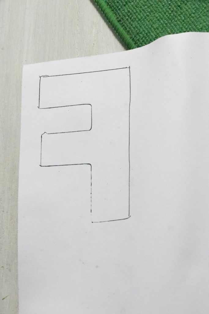 traced letter F