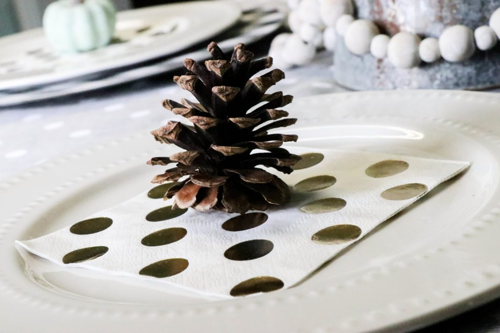 pinecone on a plate