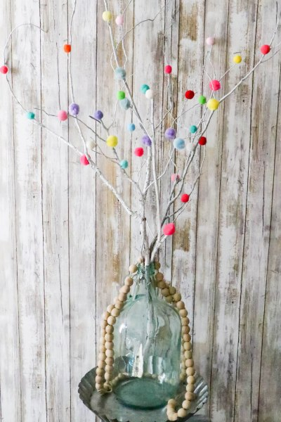 DIY Colorful Pom Pom Sticks