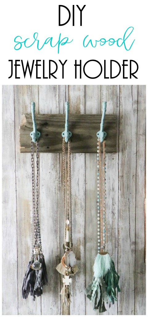Super easy DIY scrap wood jewelry holder!