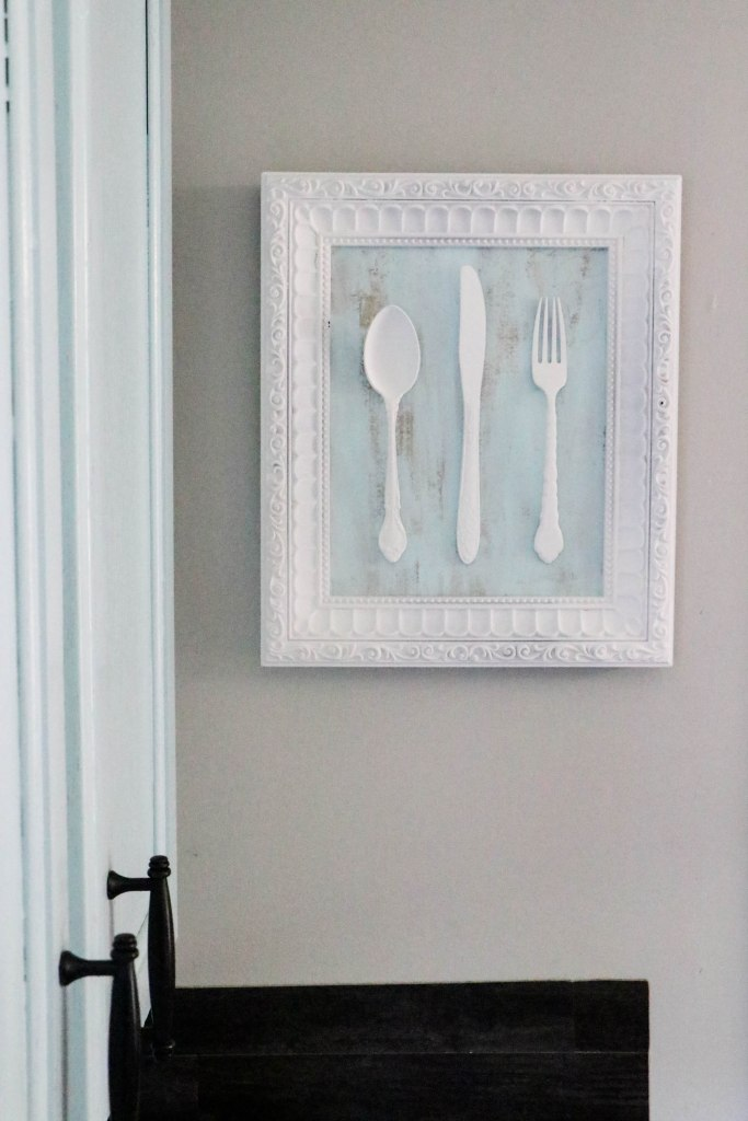 How to make kitchen decor using old silverware and an old frame!