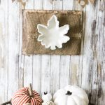 Dollar Tree Leaf Tray Makeover