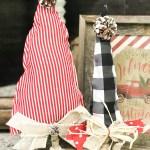 diy No Sew Fabric Christmas Tree
