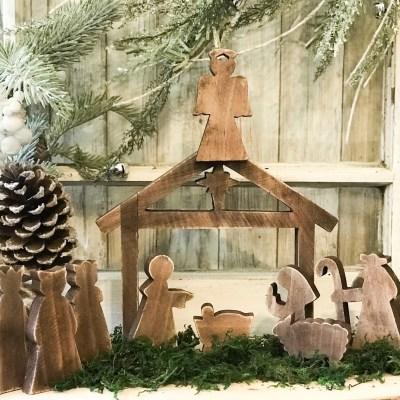 diy wooden nativity scene makeover