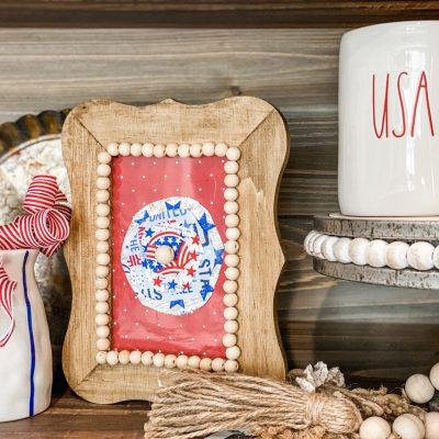 diy Patriotic Wood Frame
