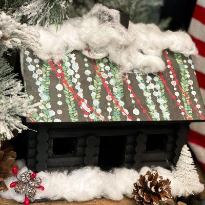Christmas log cabin diy