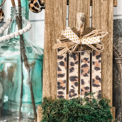 diy leopard pumpkin sign