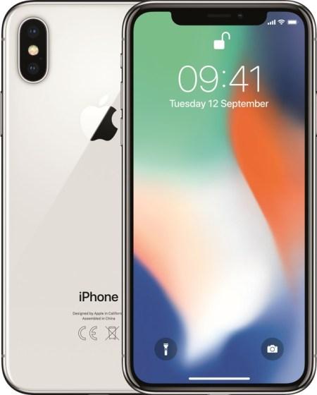 Refurbished Apple iPhone X 64GB Zilver