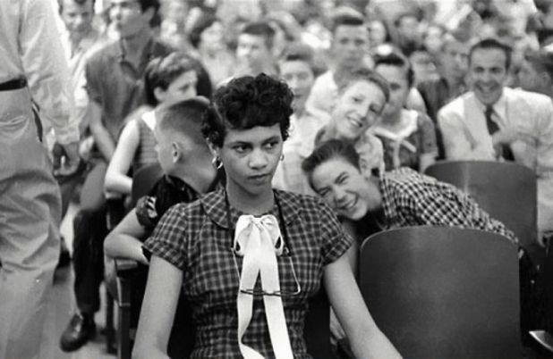 Dorothy Counts – The First Black Girl To Attend An All White School In The United States – Being Teased And Taunted By Her White Male Peers At Charlotte's Har