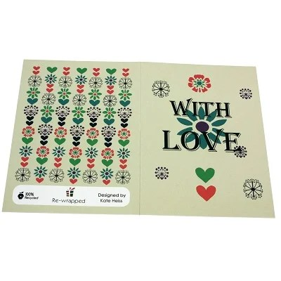 Re-wrapped: ECO Friendly Wrapping Paper, Notebooks & Greeting Cards all made from 100% Unbleached Recycled Paper