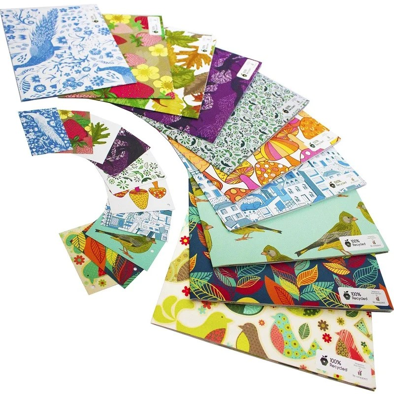 Re-wrapped: ECO Friendly Wrapping Paper Large Pack by Rosie Parkinson made from 100% Unbleached Recycled Paper