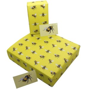 Re-wrapped: ECO Friendly Wrapping Paper Bees by Sophie Botsford made from 100% Unbleached Recycled Paper