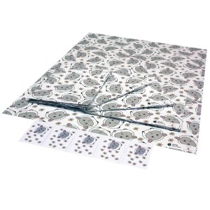 Re-wrapped: ECO Friendly Wrapping Paper Childrens Sheep & Daisies by Emily Chapman made from 100% Unbleached Recycled Paper