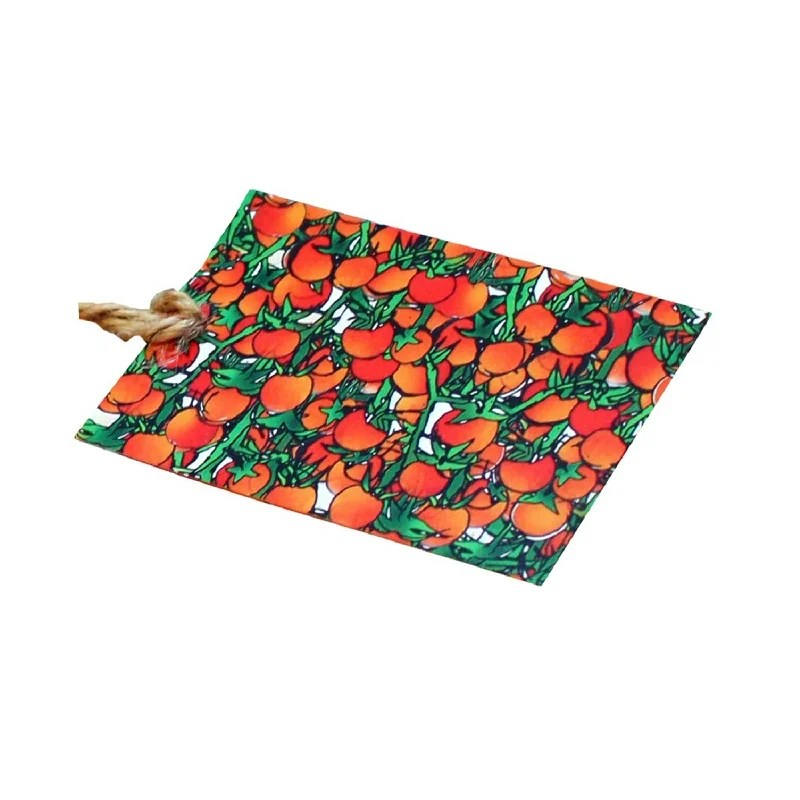 Re-wrapped: ECO Friendly Wrapping Paper Tags Tomatoes & Vines by Emily Chapman made from 100% Unbleached Recycled Paper