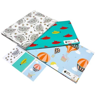 Re-wrapped: ECO Friendly Wrapping Paper Childrens Bundle by Tracy Umney, Louise Thomas and Emily Chapman made from 100% Unbleached Recycled Paper