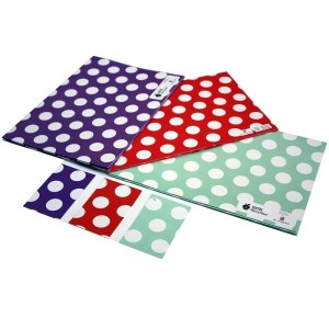 Re-wrapped: ECO Friendly Wrapping Paper Polka Dot Bundle by Tracy Umney made from 100% Unbleached Recycled Paper