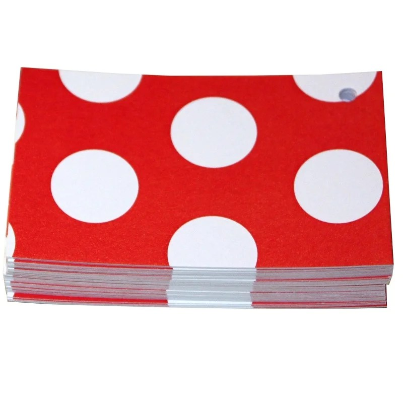 Re-wrapped: ECO Friendly Wrapping Paper Tags Polka Dot Red by Tracy Umney made from 100% Unbleached Recycled Paper