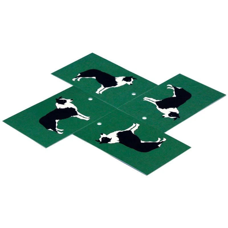 Re-wrapped: ECO Friendly Wrapping Paper Tags Green Sheepdog by New Ewe made from 100% Unbleached Recycled Paper