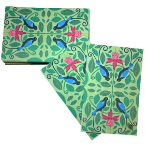 Re-wrapped: ECO Friendly Wrapping Paper Tags Birds of Paradise by Vicky Scott made from 100% Unbleached Recycled Paper