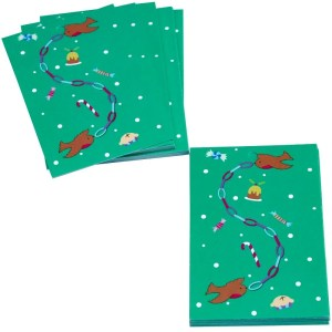 Re-wrapped: ECO Friendly Xmas Wrapping Paper Tags Christmas Robins by Vicky Scott made from 100% Unbleached Recycled Paper