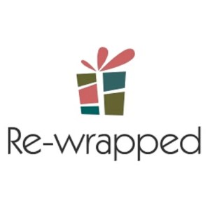 Re-wrapped: ECO Friendly Wrapping Paper Company Logo all made from 100% Unbleached Recycled Paper