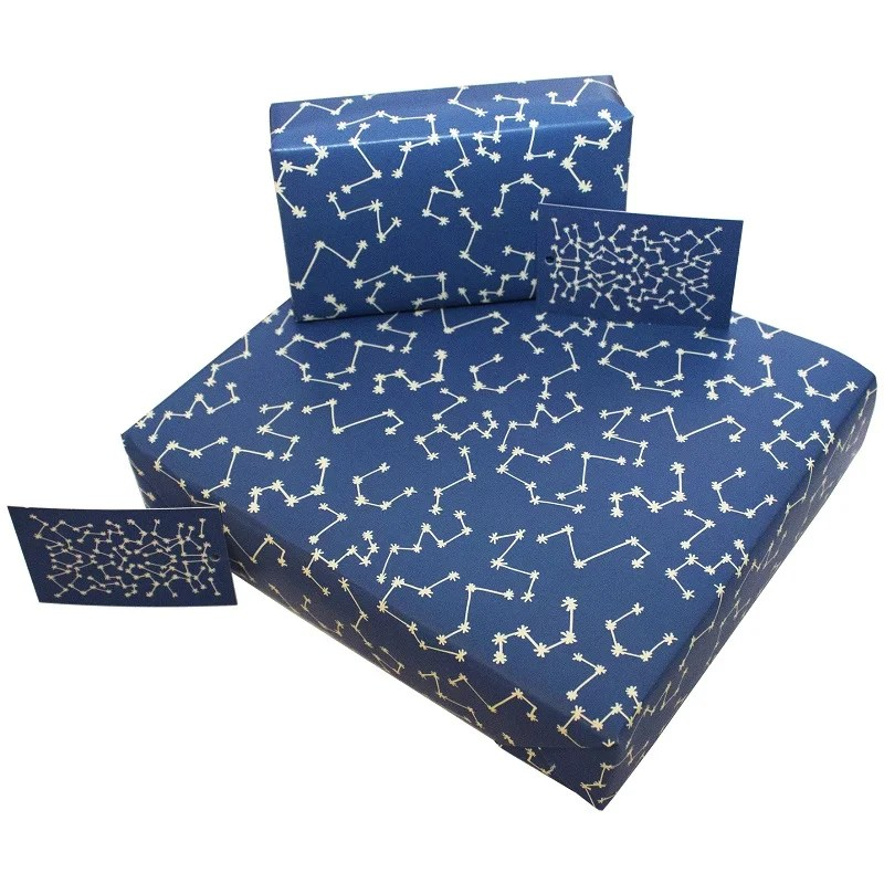 Re-wrapped: ECO Friendly Wrapping Paper Christmas Stars by Kate Heiss made from 100% Unbleached Recycled Paper