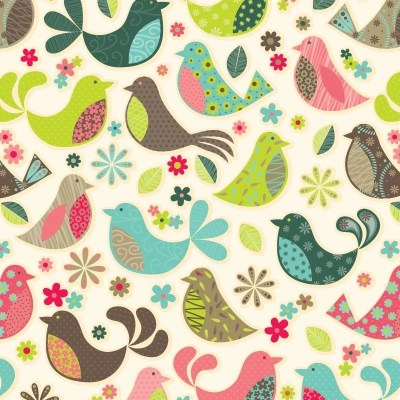 Re-wrapped: ECO Friendly Birthday Wrapping Paper Dawn Chorus by Rosie Parkinson made from 100% Unbleached Recycled Paper