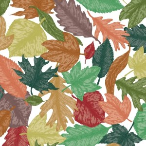 Re-wrapped: ECO Friendly Birthday Wrapping Paper Hand Drawn Leaves by Rosie Parkinson made from 100% Unbleached Recycled Paper