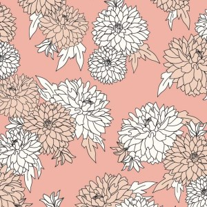 Re-wrapped: ECO Friendly Birthday Wrapping Paper Pink Petals by Rosie Parkinson made from 100% Unbleached Recycled Paper