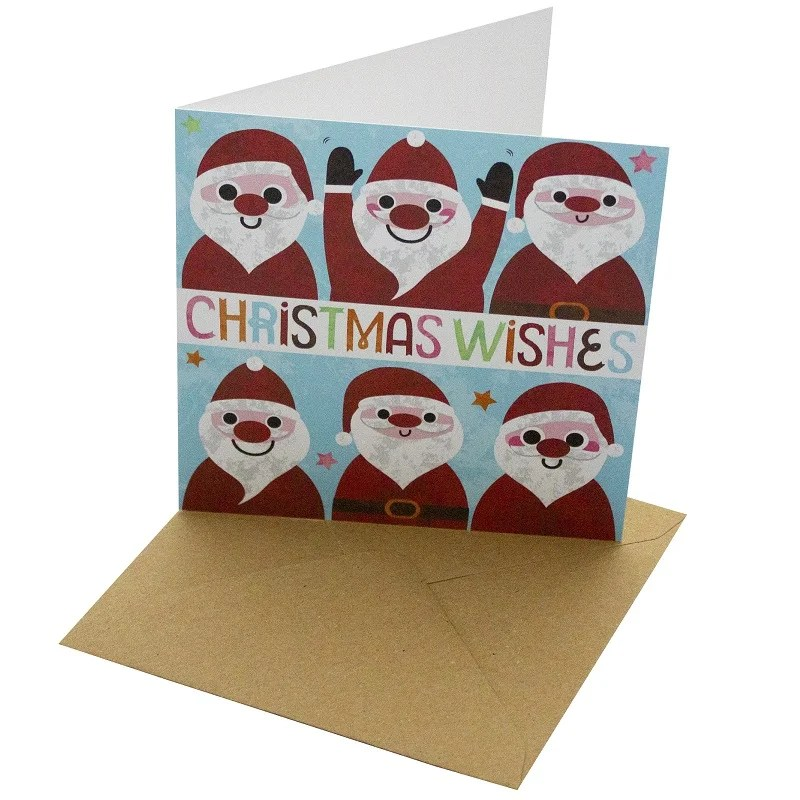 Re-wrapped: ECO Friendly Xmas Wrapping Paper Christmas Wishes Greetings Card by Rosie Parkinson made from 100% Unbleached Recycled Card