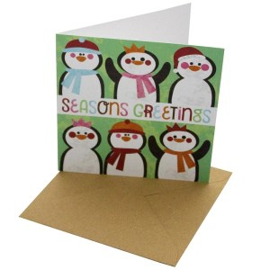 Re-wrapped: ECO Friendly Xmas Wrapping Paper Christmas Seasons Greetings Greetings Card by Rosie Parkinson made from 100% Unbleached Recycled Card