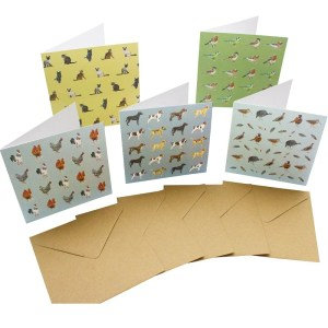 Re-wrapped: ECO Friendly Birthday Wrapping Paper Animal and Bird Large Pack Greetings Card by Sophie Botsford made from 100% Unbleached Recycled Card
